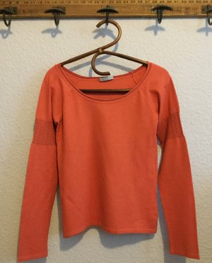 Blue Strenesse Sweater zalm-abrikoos Viscose