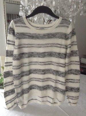 Sweater wolwit-zwart