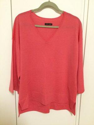 Leichter Pullover 100% Wolle weich und angenehm geschmeidig Korallrot Pink
