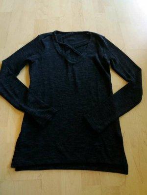 Amisu Top à manches longues bleu foncé