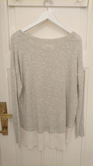Leichter Pullover, grau-silber mit etwas Glitzer