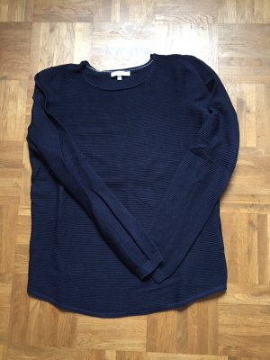 Jake*s Crewneck Sweater dark blue mixture fibre