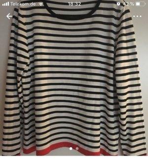Leichter Pullover in schwarz weiß