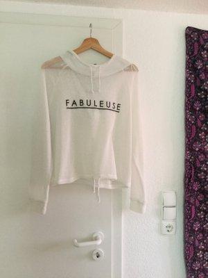 Leichter Pullover mit Aufschrift