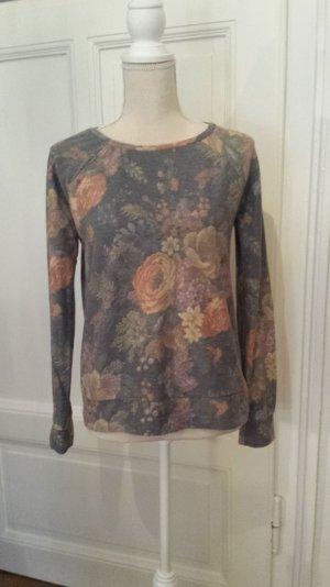 Leichter Pullover mit Blumenmuster
