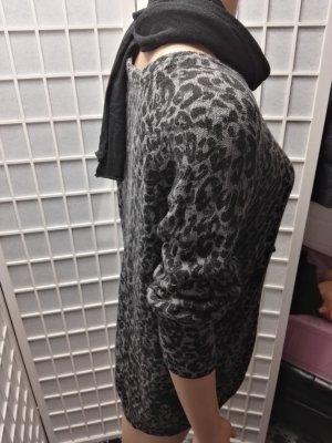Leichter Pullover mit Mustern 3/4 Arm Leopard
