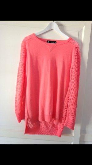 Leichter Pullover mit Netzoptik