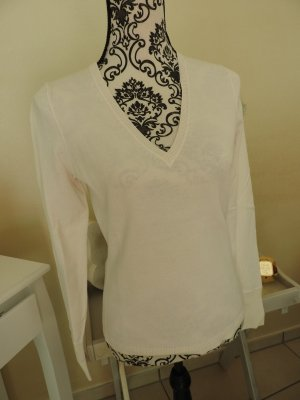 Leichter Pullover mit V-Ausschnitt Gr. 36 Esprit weiß