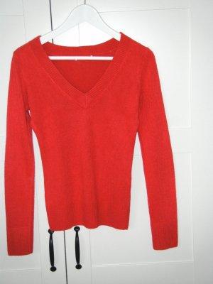 leichter Pullover, Pulli, langärmliges Shirt, Basic, H&M, himbeer,rot, Gr. XS/34