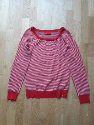 leichter Pullover rot/weiß gestreift