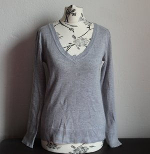 AJC Christmasjumper light grey mixture fibre