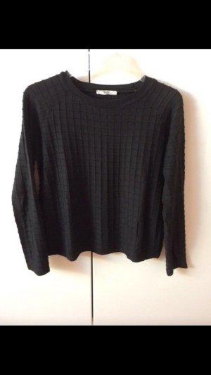Mango Pull tricoté noir