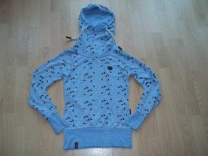 Leichter Pullover von Naketano in Gr. XS 34 mit Vögel Kapuzenpullover