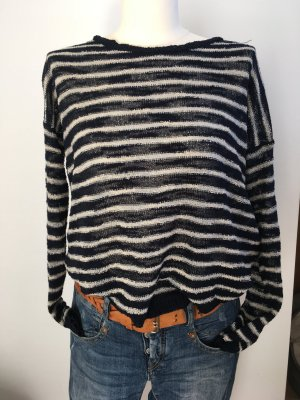 leichter Pullover von WE Gr. M blau-weiß gestreift