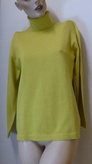 Wool Sweater dark yellow wool