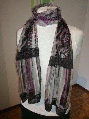 Bonita Scarf black-brown violet