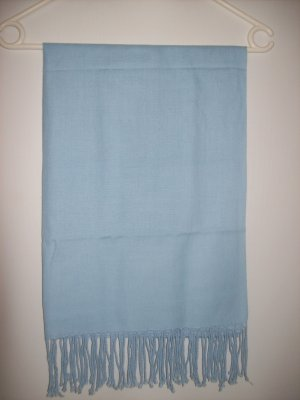 Cyrillus Fringed Scarf light blue