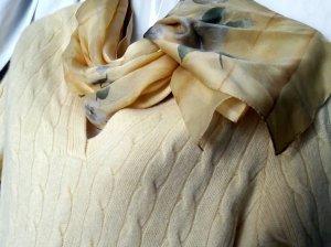 Écharpe en soie multicolore tissu mixte