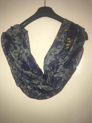 Zijden sjaal blauw-donkerpaars