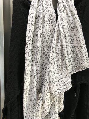 Summer Scarf white-black cotton