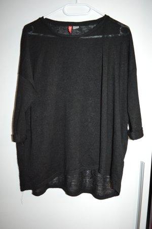 Leichter schwarzer Oversize Pulli Gr. 39 von H&M