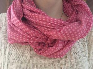 Zijden sjaal room-roze