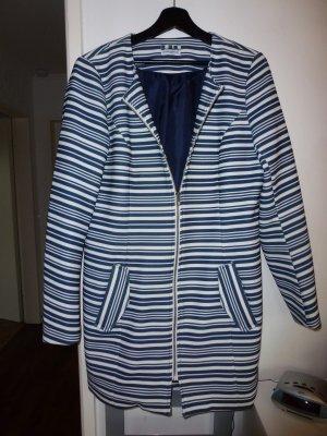 leichter Sommer Mantel blau weiß Gr. 38 - wie neu!