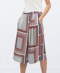 Leichter, sommerlicher Hosenrock / weite, leichte Sommerhose von Zara