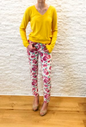 3 Suisses V-Neck Sweater yellow viscose