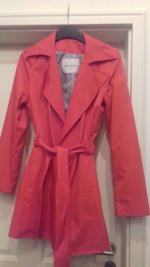 Zara Basic Trench Coat bright red