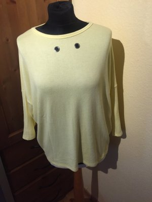 Made in Italy Long Sweater pale yellow