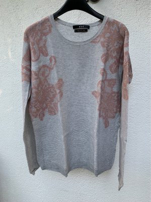 Oui Knitted Sweater light grey-pink