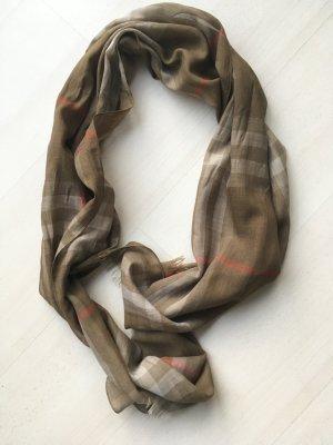 Burberry Pañoleta ocre-marrón grisáceo