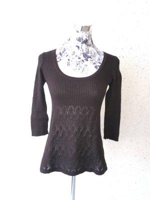Leichter Street One Pullover; braun; Größe 34