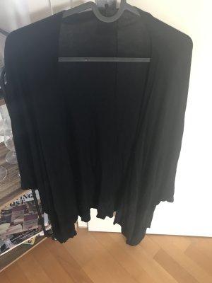 Leichter Strickkimono in schwarz