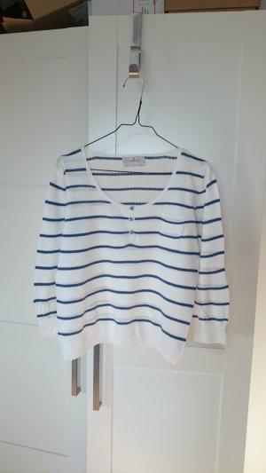 Springfield Jersey de manga corta blanco-azul Algodón