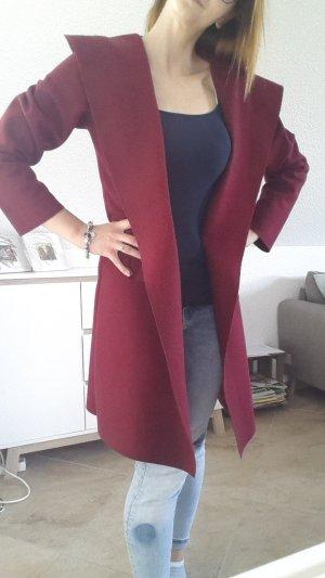 Manteau à capuche violet