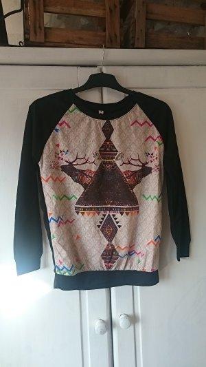 Leichter Sweater mit geo Print
