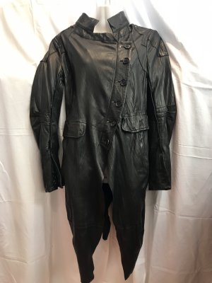 Leather Coat black