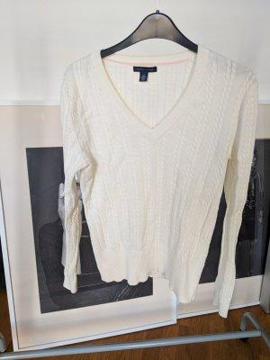 Tommy Hilfiger Pull tricoté blanc-blanc cassé coton