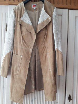 Travel Couture by Heine Manteau en cuir marron clair