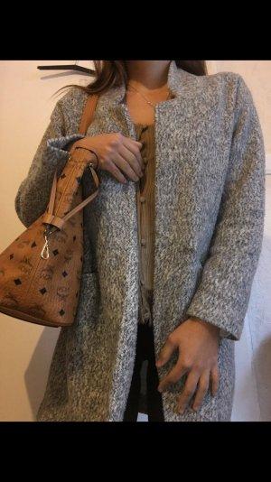 Zara Abrigo de entretiempo gris-gris claro