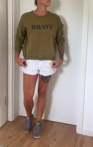 Leichter Zara Pullover Khaki, 36, aktuelle FS Kollektion