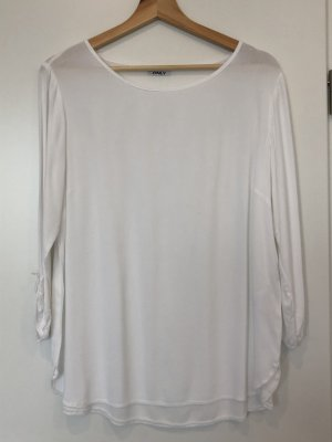 Only Shirt Tunic white mixture fibre