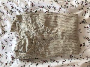 Hollister Top en maille crochet beige clair