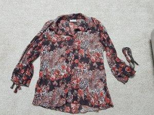 Leichtes Bluse, Oberteil Gr. 42 in dunkel Braun rot