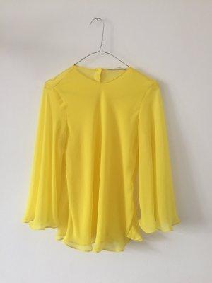 Zara Slip-over blouse geel