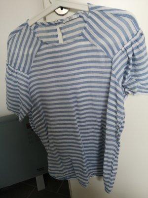 edc by Esprit Camisa de mujer blanco-azul celeste