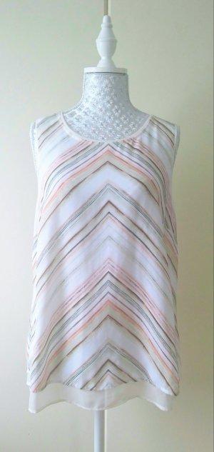 leichtes Blusentop mit Muster von H&M