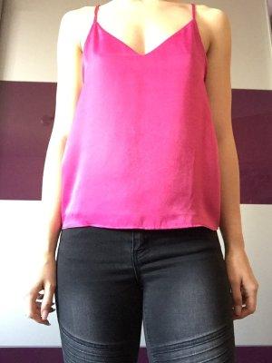 H&M Blusa brillante magenta-rosa
